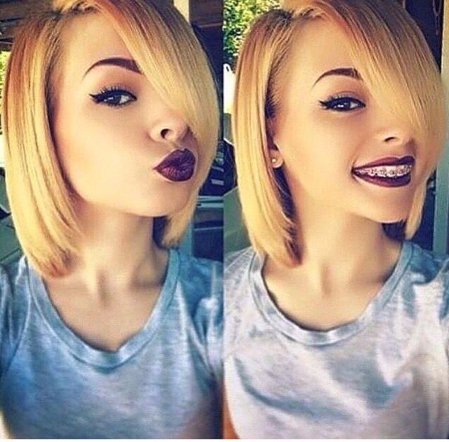 Honey Blonde Bob In 2019 Natural Hair Styles Hair