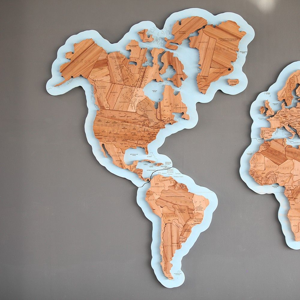 Wooden World Map Puzzles Artes