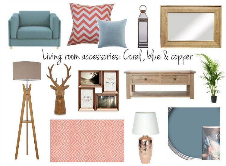 Good Living Room Accessories: Copper, Blue And Coral   Mum In Brum