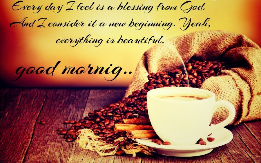 Attractive Good Morning Quotes In HD With Coffee