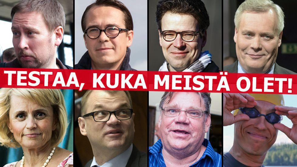 Sipilä, Stubb, Soini, Räsänen...? Testaa, kuka puoluejohtaja olet