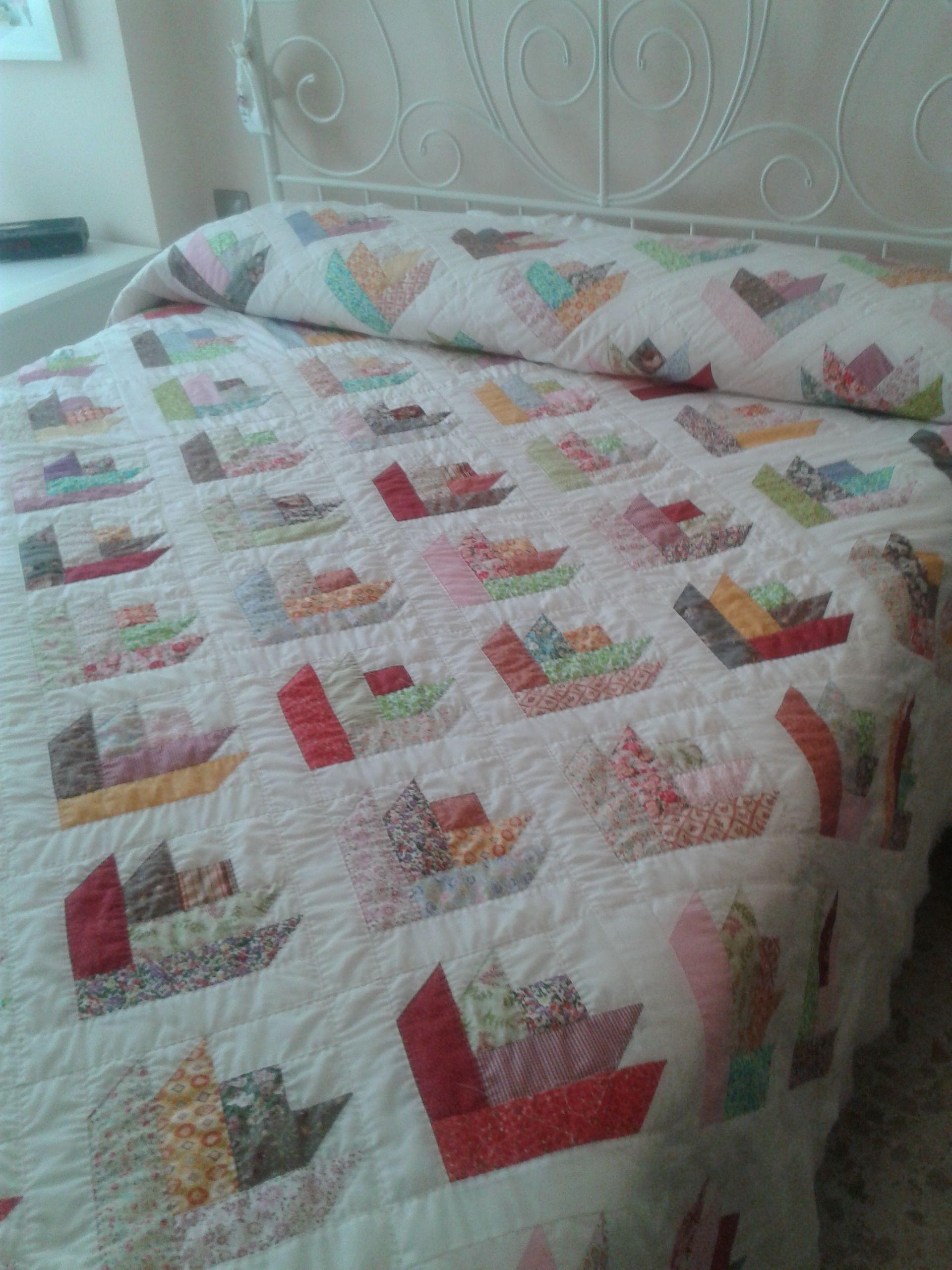 Colcha de patchwork colchas pinterest labor de retales - Colcha patchwork ...