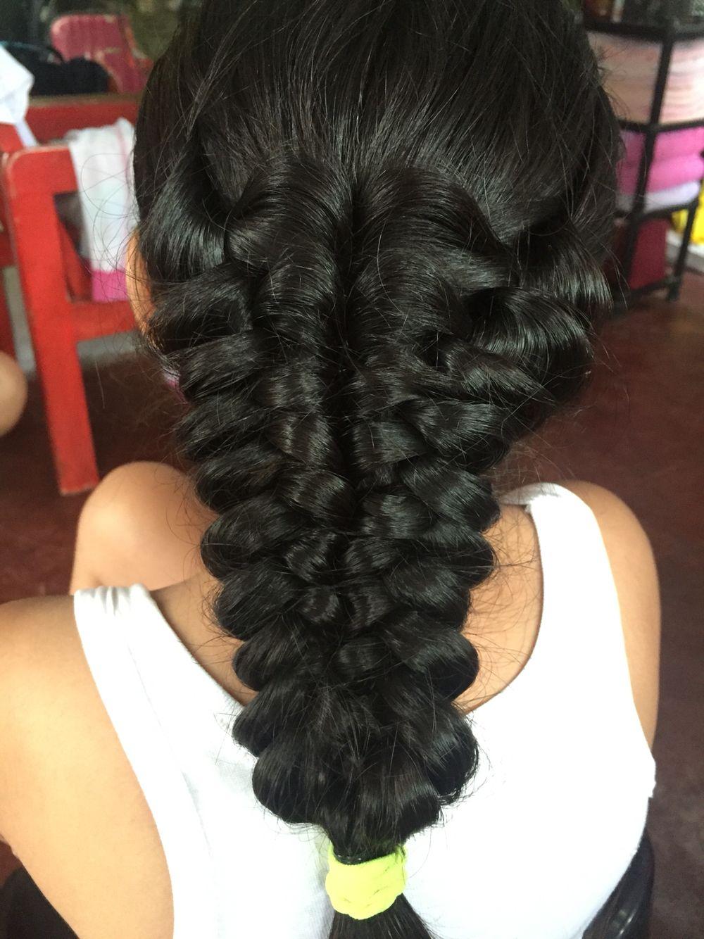 Puff braid hairstyle pinterest