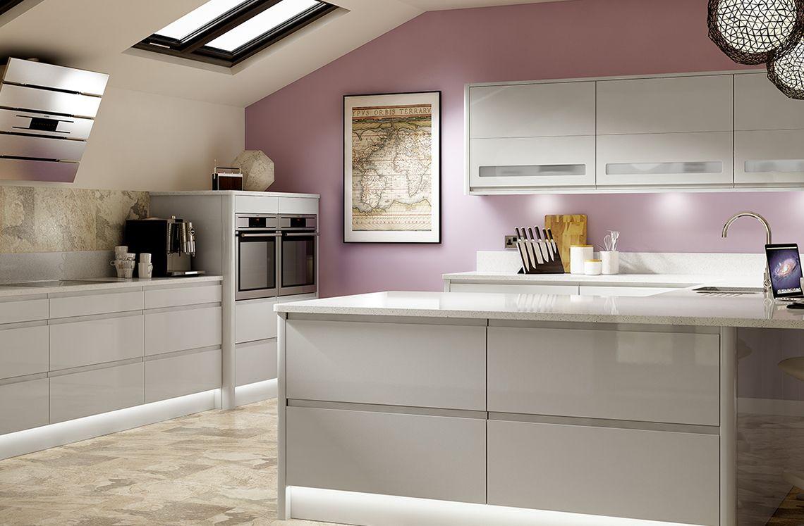 Best Holborn Light Grey Gloss Kitchen Modern Range 400 x 300