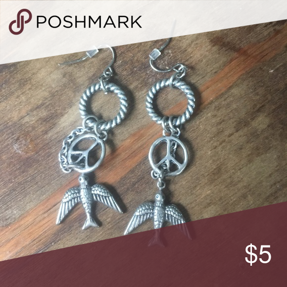 Download Peace, Love & Dove Earrings | Earrings, Dangly, Peace and love