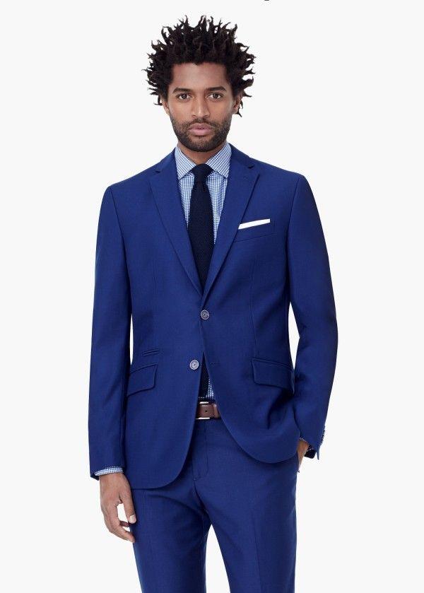 Moda Trajes Hombre Otoño Invierno 2015-2016 Tendencias TRAJE azul de Mango 373fc5e3a83