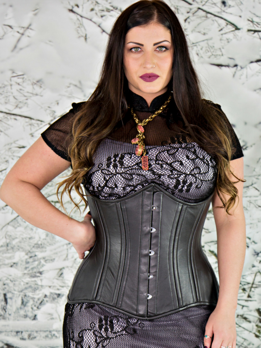 bf85429c9c1 CS-426 longline lambskin leather. Find this Pin and more on Orchard Corset  Steel Boned ...