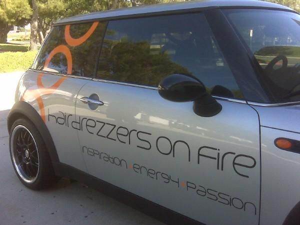 Hair Drezzers On Fire Car Decal Vehicle Decals Magnets - Auto decals and magnets