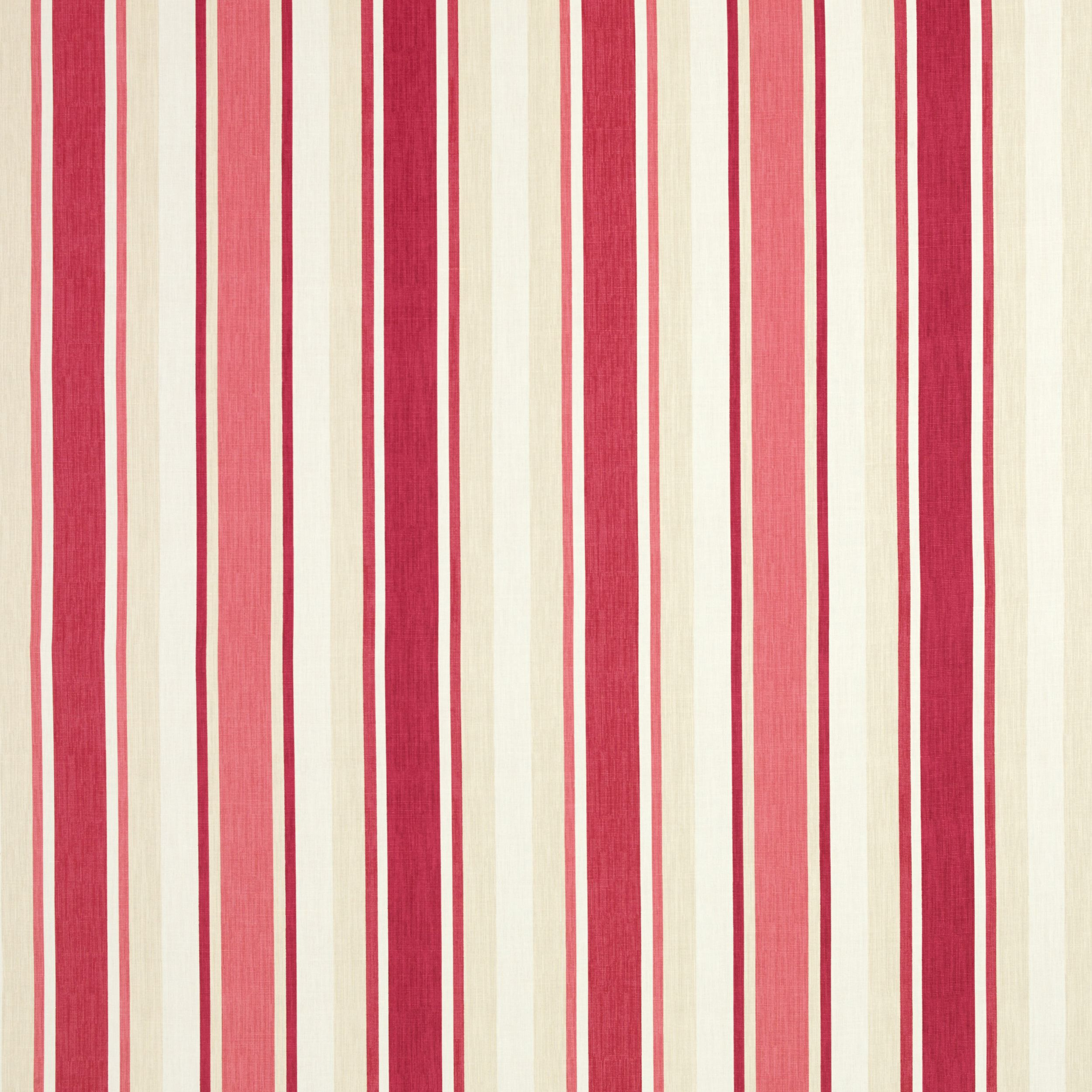 Awning Stripe Pale Cranberry Red Linen Mix Curtain Fabric at Laura ...