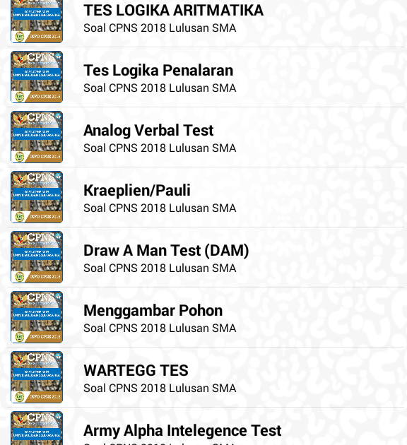 Download Soal Cpns 2018 Lulusan Sma Apk Latest Version App Jual Alat Tes Epps Software Skoring Psikotest Otomatis Software Psik Gambar Sma Menggambar Pohon