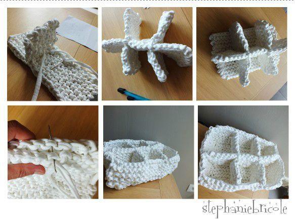 id e tricot laine zpagetti rangement pour salle de bain crochet pinterest tricot. Black Bedroom Furniture Sets. Home Design Ideas