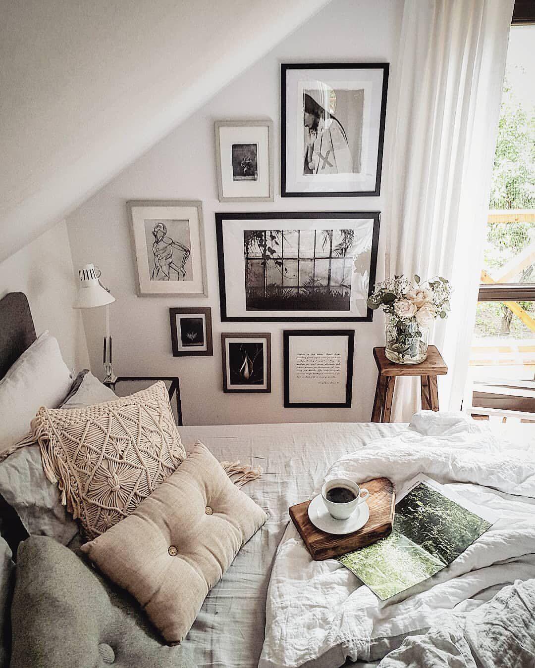 Bedroom Bench Name Bedroom Ideas Cozy Bedroom Ideas Glam Black Leather Bed Bedroom Ideas: Sunday Vibes. (Image: @marzena.marideko).