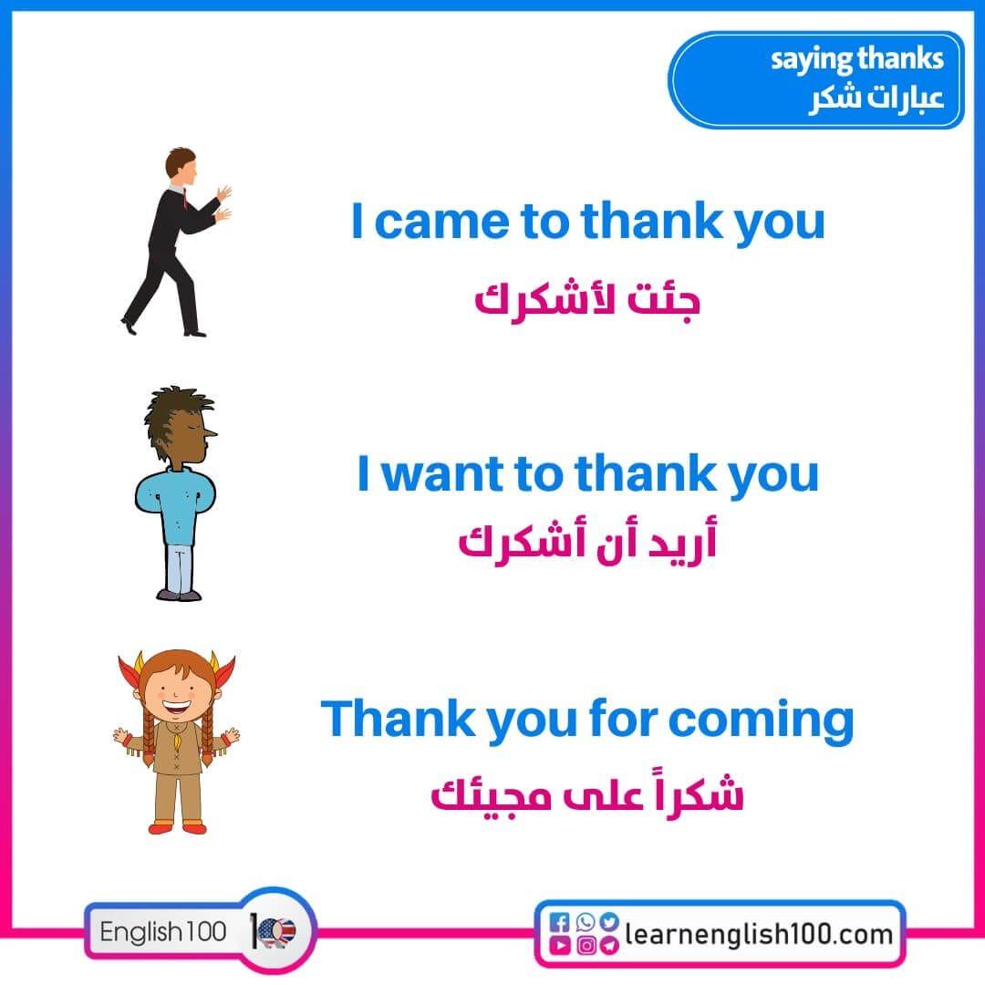 عبارات شكر بالانجليزي English 100 Thankful You And I Saving