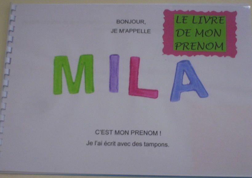 Le Livre Du Prenom En Ps Ecole Maternelle De La Hyse