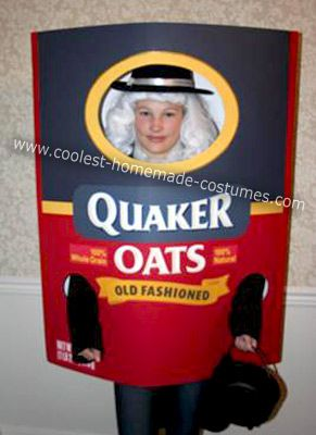 coolest homemade quaker oats costume - Best And Easiest Halloween Costumes