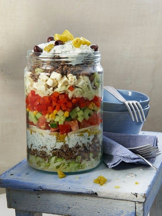 Photo of Uschi's Layered Greek Salad by ufaudie58 | chef