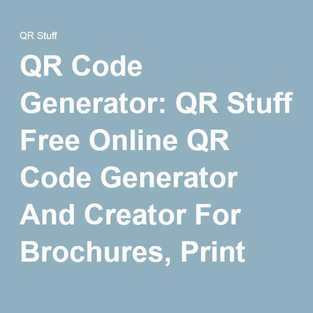 Qr code generator qr stuff free online qr code generator and qr code generator qr stuff free online qr code generator and creator for brochures colourmoves