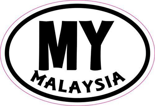 In X In Oval MY Malaysia Sticker Vinyl Cup Decal Travel Bumper - Custom vinyl stickers malaysia