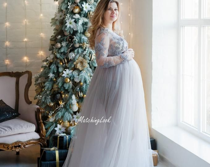 Photo of Maternity Gown Lace for Photo Shoot, Maternity Photo Prop Lace Dress, Maternity Dress Pregnancy Dress, Lace Gown Pregnancy Photo Prop,