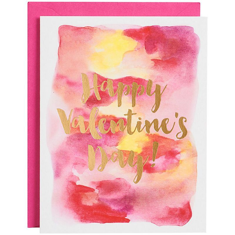 A Gold Foil Valentine S Day Greeting Is Printed On A Beautiful