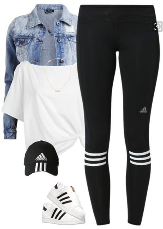 50 Best Polyvore Outfits with Adidas Superstars for Girls to