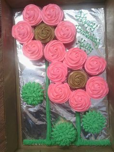 Flower Made Out Of Cupcakes