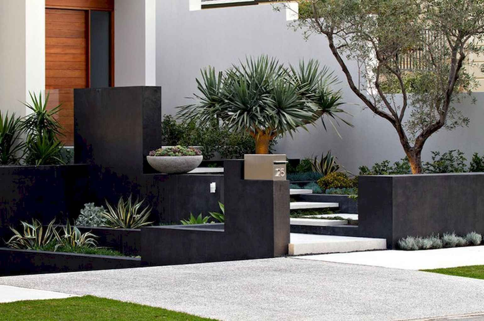 awesome modern front yard design and landscaping ideas 07 on modern front yard landscaping ideas id=69061