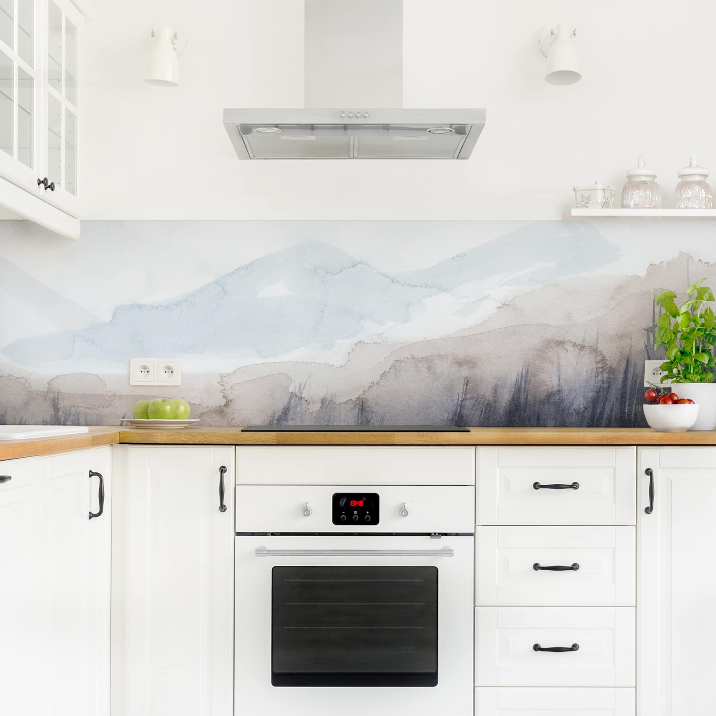 Kuchenruckwand Seeufer Mit Bergen I In 2020 Kuchen Ruckwand