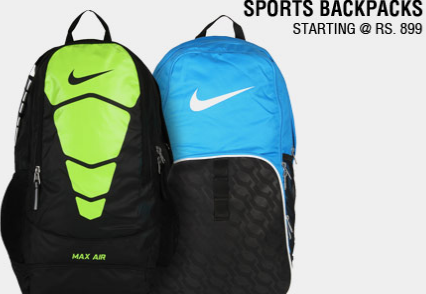 Buy Sports Backpacks Starting @ Rs.899.Buy Adidas, Nike, Puma ...