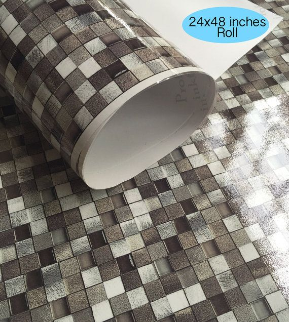 Wall Tile Decals Vinyl Sticker Waterproof Wallpaper For Kitchen