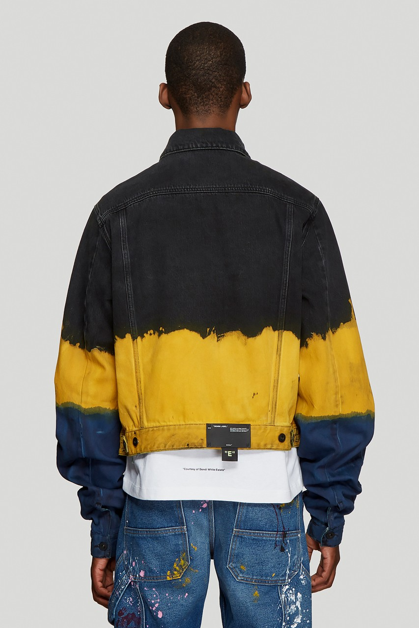 Off White Ss19 Denim Jacket Gets Coated With Tie Dye Denim Fashion Tie Dye Fashion Tie Dye Jackets