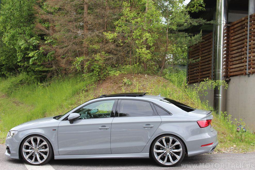 Nardo Grey Audi A3 Limosine Audi A3 Sedan Audi Cars Pretty Cars