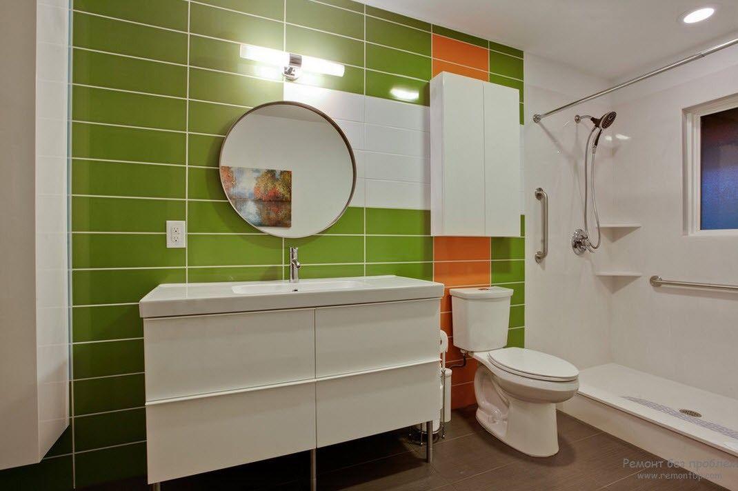 Зеркало - важный атрибут ванной комнаты | Ванная с темным полом ...