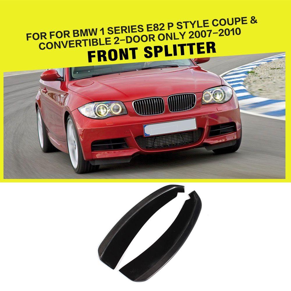 1 Series E82 Car Styling Carbon Fiber Front Splitter Lip For Bmw 1