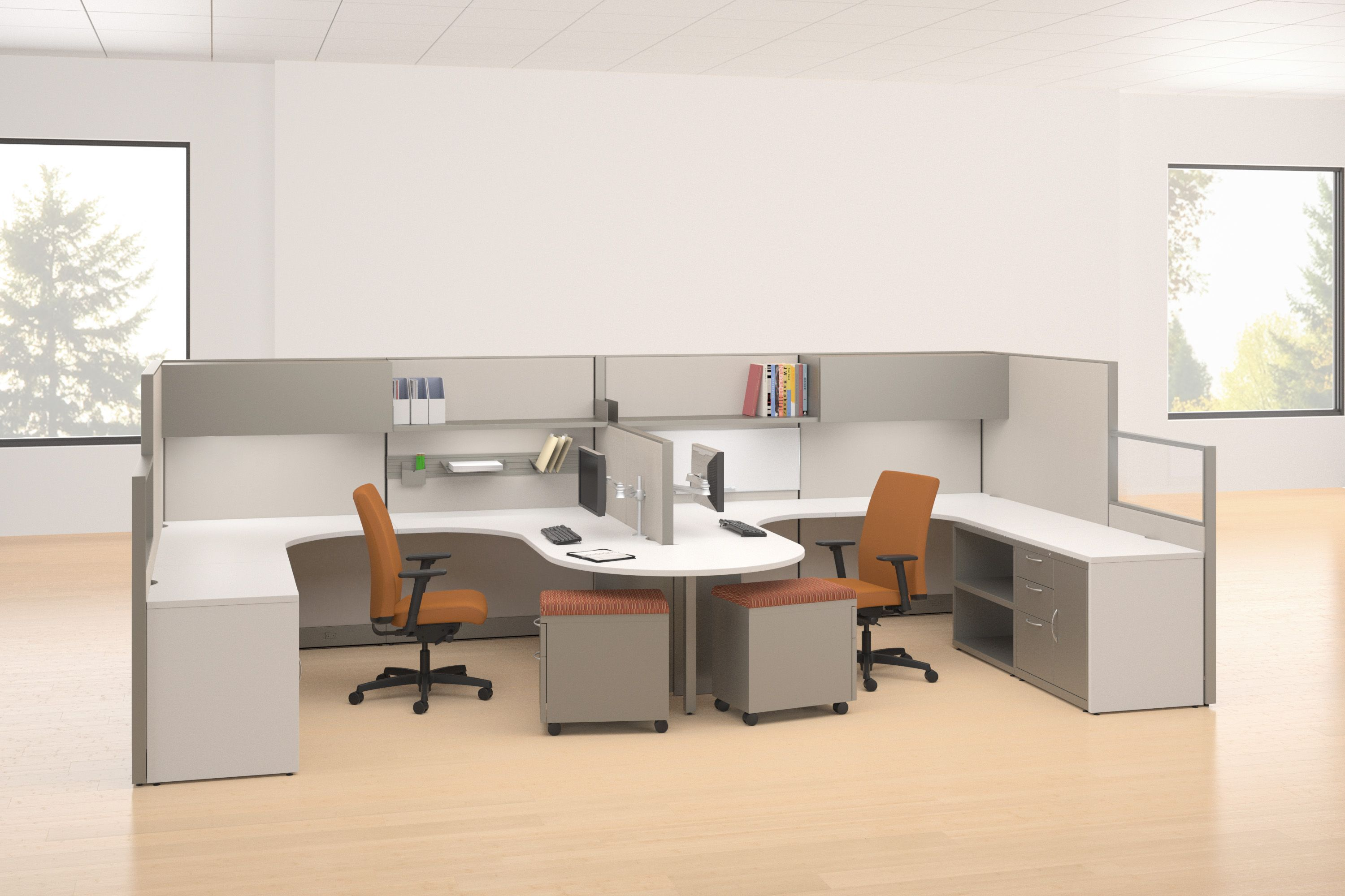 Accelerate™ workstations by HON #office #design #desk  Hon office