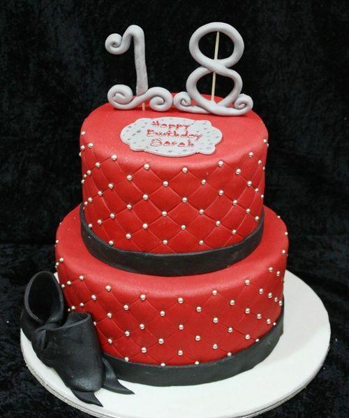 Red 18th Birthday Cake Ideas Birthday cales Pinterest 18th
