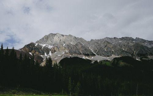 The darkening mountains.  (8 day road trip through Alberta)