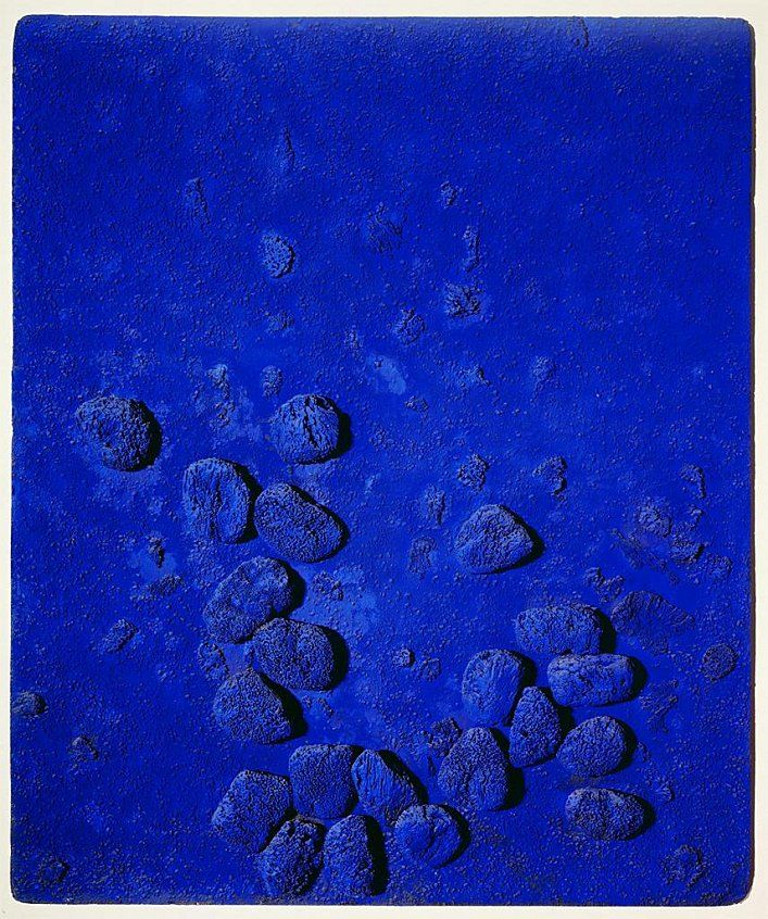 blue sponge relief 1957 yves klein 1928 1962 yves. Black Bedroom Furniture Sets. Home Design Ideas