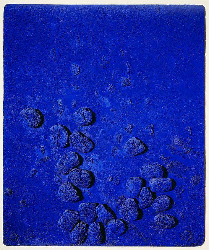 blue sponge relief 1957 yves klein 1928 1962 yves. Black Bedroom Furniture Sets. Home Design Ideas