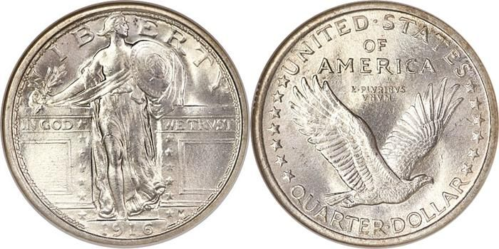 Standing Liberty Quarter Us Coin Values Chart Key Date Prices