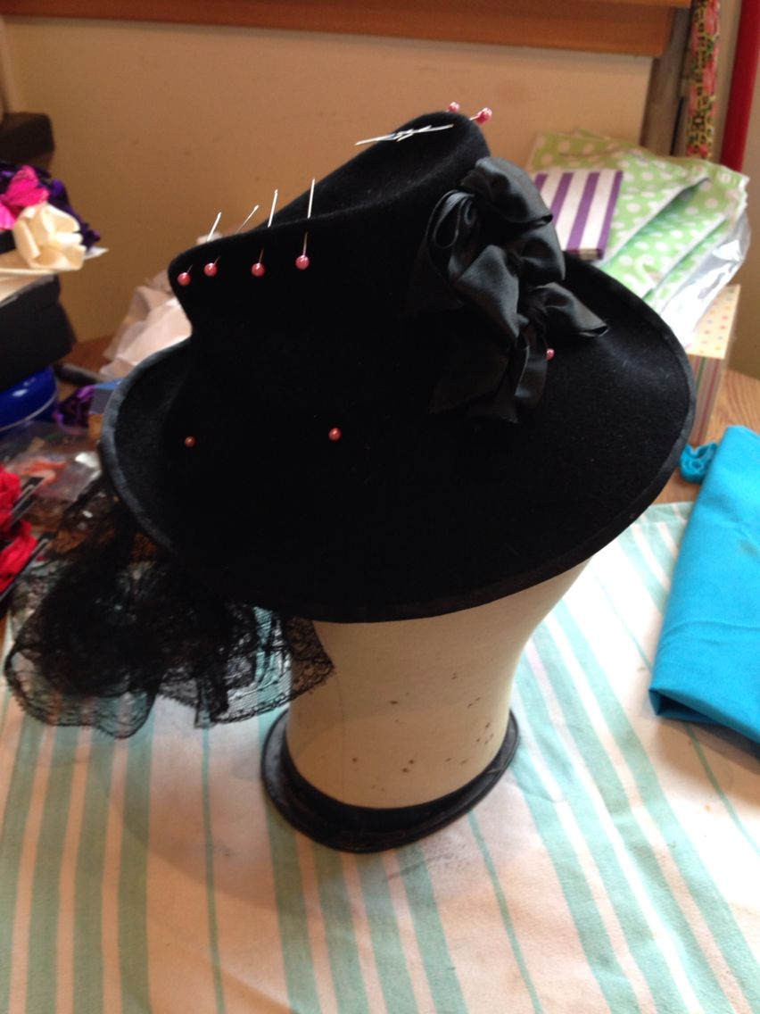 Reblocking and steaming a vintage hat for a customer  | hats