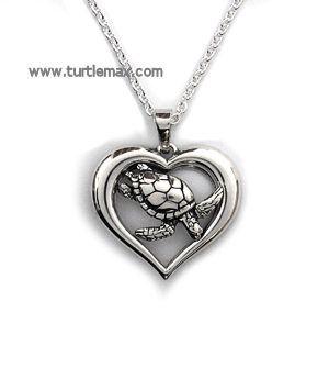 Sterling Sea Turtle in Heart Necklace so pretty!