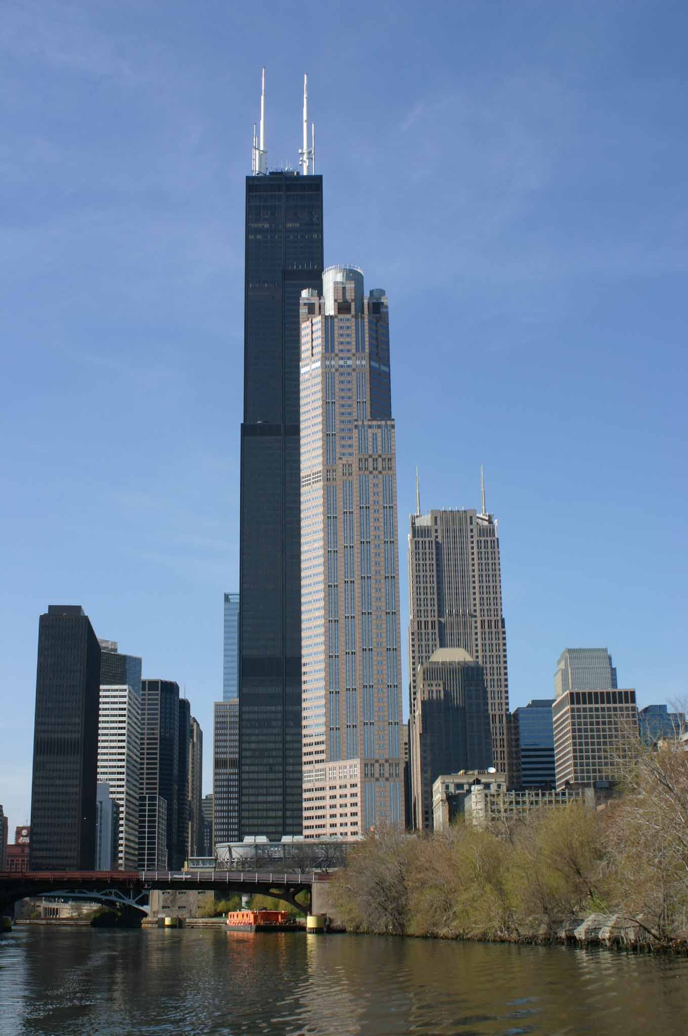 how tall is the sears tower in chicago illinois