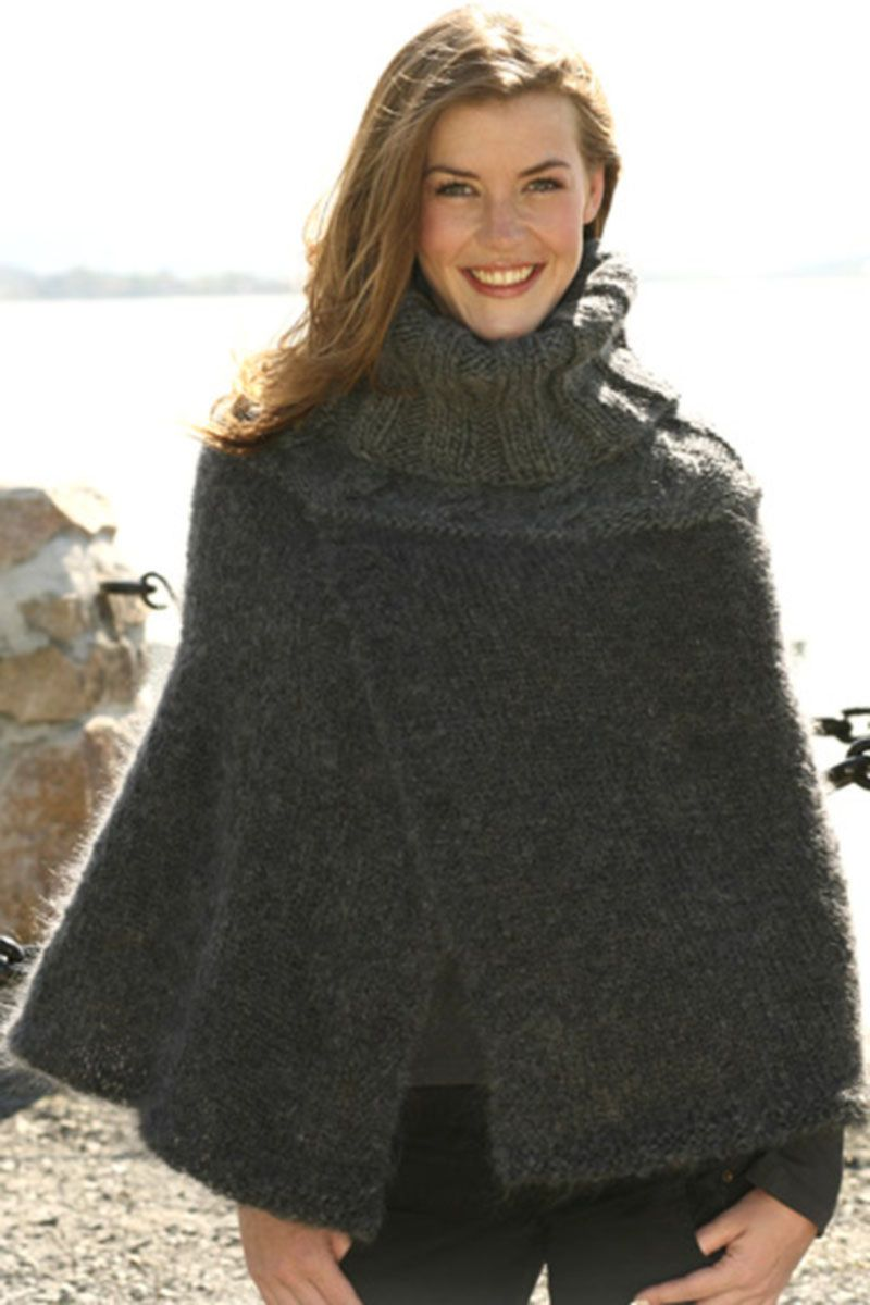 Httpfiffazd302920d15 22g poncho pinterest ladies poncho knitting pattern with high neck and cables in drops vienna and eskimo free knitting pattern bankloansurffo Choice Image