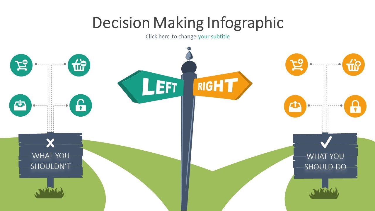 Our Decision Making Infographic Powerpoint Template Powerpoint
