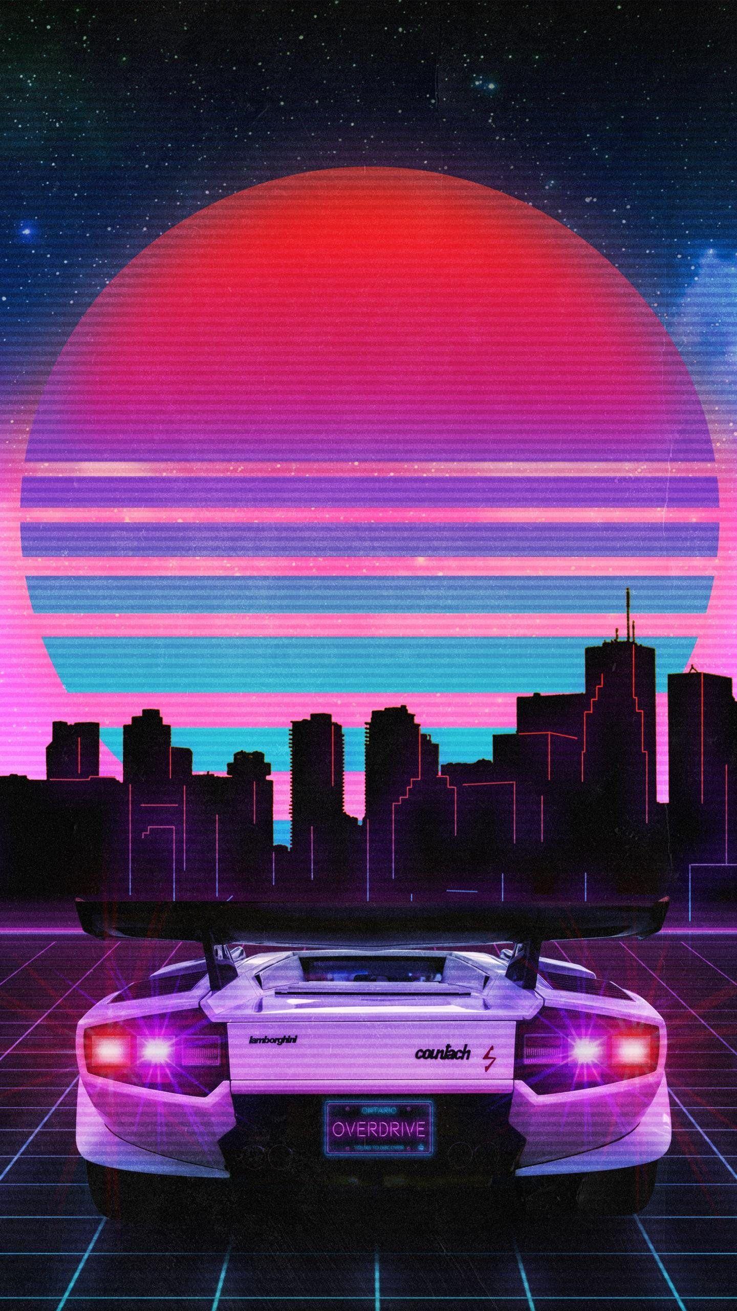 Stylish Car En 2020 Fond D Ecran Vaporwave Fond D Ecran Ville Neon City