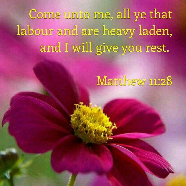 Matthew 11:28 KJV
