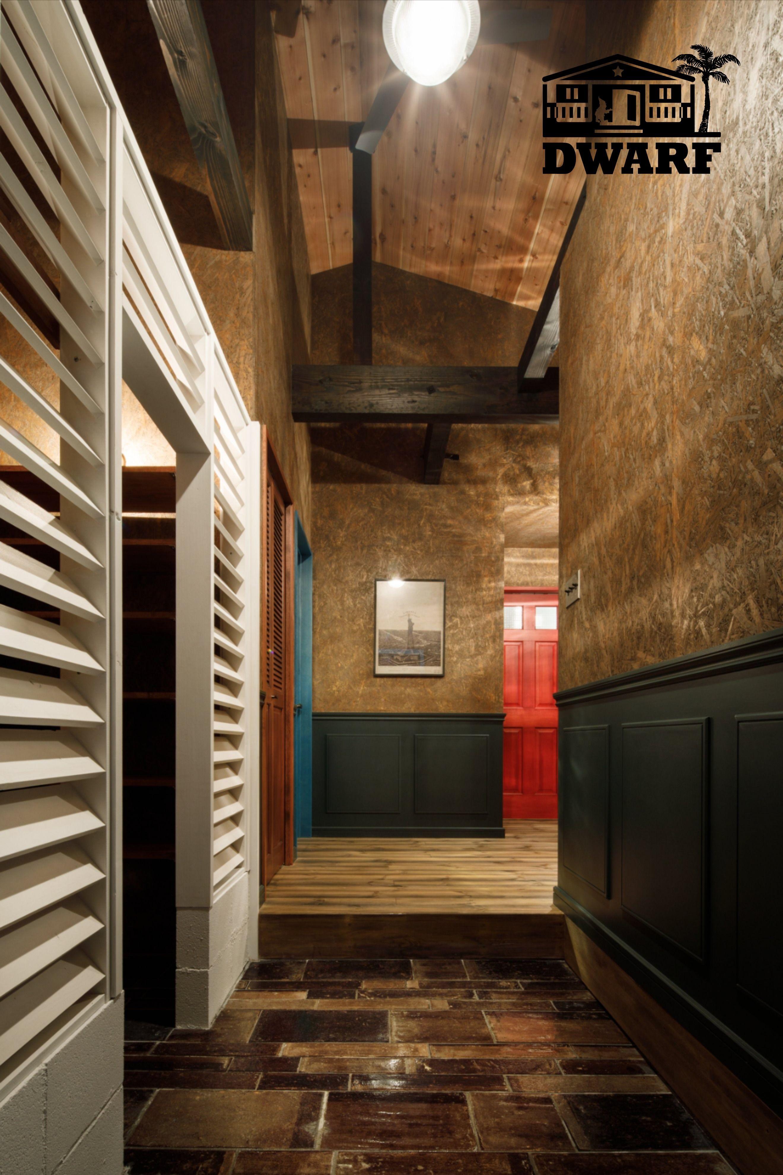 玄関 インテリア Osb カリフォルニアスタイル サーファーズハウス