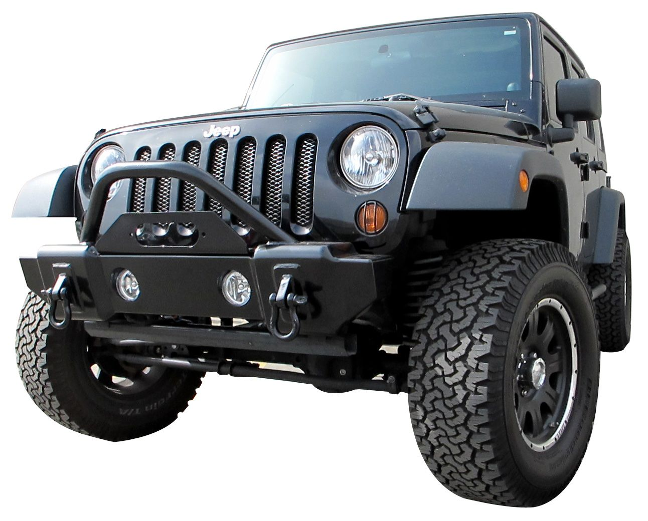 Rampage Products Stubby Recovery Front Bumper On A Jeep Jk