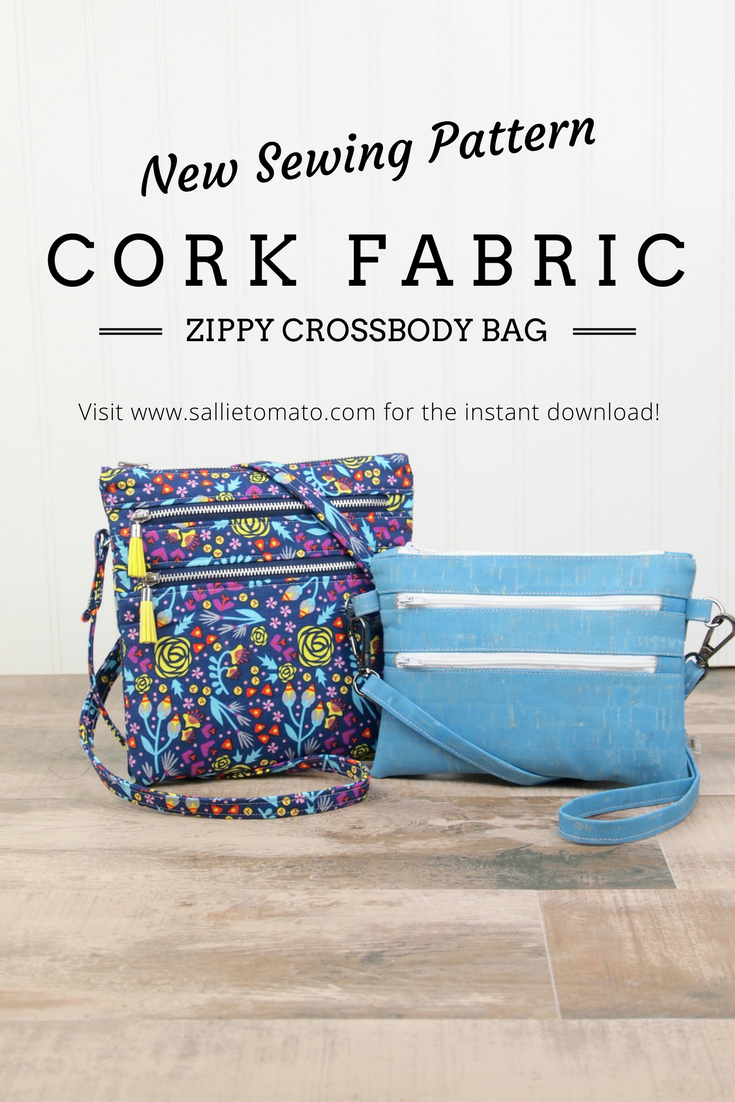 New Cork Fabric Crossbody Bag Sewing Pattern! These pretty and ...